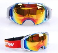Marsnow Skiing Snow Glasses Replaceable Lens Double Layer Antimist Spherical  Motorcycle Off-Road night vision  eyewear Lens
