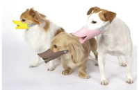 Wholesale 3pcs/lot S/M/L high quality soft silicon rubber yellow/pink/coffee duckbilled dog muzzle,dog health supplier