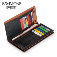 men bags 2014 Commercial male wallet genuine leather long wallet design day clutch bag clutch male wallet free shipping