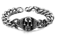 Jewelry Men Skeleton Hand Bracelet Titanium Bracelet Mens Accessories Bracelets 23cm Jewelry 2014