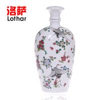 Bottle 2 jingdezhen ceramic jars hip flask personality luminous wine bottle seal