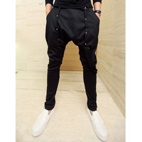 free shipping   pants harem pants mens taper pants personality of alcoholicity of pants hiphop jeans skinny pants