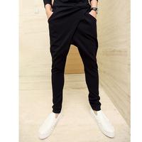 Free shipping    2014  irregular british style low-waist slim harem pants mens hip-hop trousers