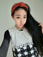 "Free shipping high end 4"" wide elastic hair band"