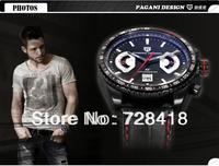 HK Free Shipping Brand New Luxury Pagani Design Men's Business casual dress sports Gift watch fashion calendar luminous watch