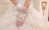 New arrival 2014  wedding formal dress yarn gloves the bride wedding gloves wedding short design sst31