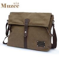 Canvas shoulder bag messenger bag  horizontal vintage  casual bag men travel bags