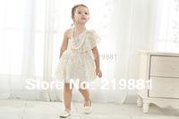 free shipping ! 2014 summer girl gold shoulder lace dress dress , girls summer dress, 5pcs/lot