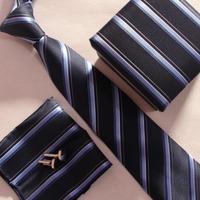 1 SET 2014 necktie set cufflinks with pocket squares box gravata
