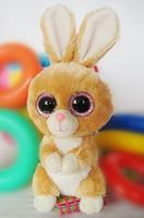 TY big eye plush toys soft brown rabbit doll 15cm 4pcs /lot stuffed animal doll for baby Beanie Boos