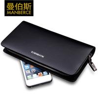 2014 fashion men wallet male long design clutch horizontal zipper cowhide male wallet mens wallet men handbag