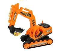 Free shipping  Children's toys large backhoe excavator construction vehicles inertia simulation model