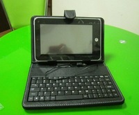 DHL Free Shipping Protective leather Keyboard Case for 7 inch Tablets