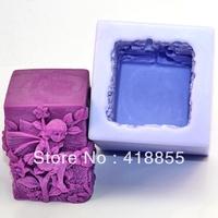 Beautiful faery 3D silicon soap mold Cake decoration mold manual soap mold fondant mold NO:SO121