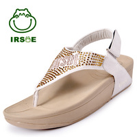 New arrival 2013 lambdoid irsoe fashionable casual flip-flop gladiator style comfortable flat diamond sandals shopping