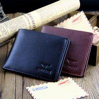 men short design soft leather wallet man fashion card holder horizontal men's multifunctional wallets