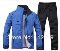 hot sale 2014 brand High quality Sport suit male sportswear jackets casual sportswear two piece set