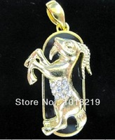 jewelry usb flash drive 4gb 8gb 16gb 32gb pen drive Goats run animal pendrive crystal gift hard disk gadget usb memeory