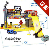 Gao Peng Yue Yue shipping Boa Tong Yizhi assembled building blocks toy building blocks car repair center parking orbit