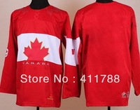2014 Winter Olympics Team Canada #Blank White Red Black ice hockey jerseys cheap epacket free shipping