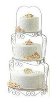 Free Shipping 3 Tier Steel Cake Party Wedding Cake Stand