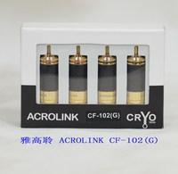 Acrolink cf-102 g gold plated rca head carbon fiber flower plug carbon fiber rca DHL Free Shipping(100PCS/LOT)