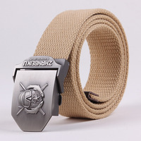 Dive Thickening male canvas belt male casual fashion strap lengthen belt men's tactical belts 110cm and 140cm A01058