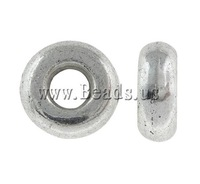 Free shipping!!!Zinc Alloy Jewelry Beads,Sexy Jewelry, Donut, antique silver color plated, nickel, lead & cadmium free, 9x3mm