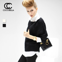 Cocobella 2013 coarse knitting mohair i o-neck bat knitted sweater yn42
