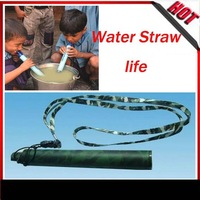 Personal Water Purifying Straw Filter 2types3colors purifier drinking pipe save life in wild filed Outdoor Camping Hiking Travel