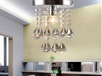 Diamond  Crystal Chandelier  5Watt Led crystal chandelier  Efficency Decoration Porch Aisle lamps home lighting white/warm white