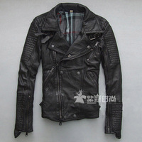 Women genuine leather motorcycle suit sheepskin leather clothing lovers design genuine leather clothing motorcycle clothing 2013