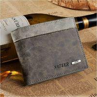 Men cowhide wallet man genuine leather short  design wallets card holder