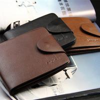 Men's fashion cowhide wallet men short genuine leather wallets