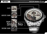 HK Free Shipping Luxury Pagani Design honorable military men's watches Hardman Sport gift quartz waterproof calendar watches