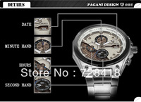 HK Free Shipping Luxury Pagani Design honorable military men's watches Hardman Sport gift quartz waterproof calendar watches