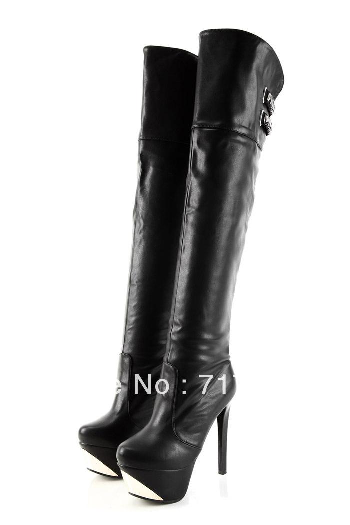 get cheap white thigh high boots aliexpress