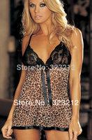 Sexy Shop Wholesale Leopard Print Babydoll Lingerie Sexy Langerie Free Size