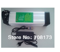 free TNT/EMS shipping   Electric Bicycle Battery  48V 10Ah Li-ion Battery Aluminum Case with 54v 2a charger,BMS