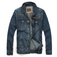 FREE SHIPPING Spring denim outerwear fashion slim male casual denim jean jacket men's outerwear QV2033180