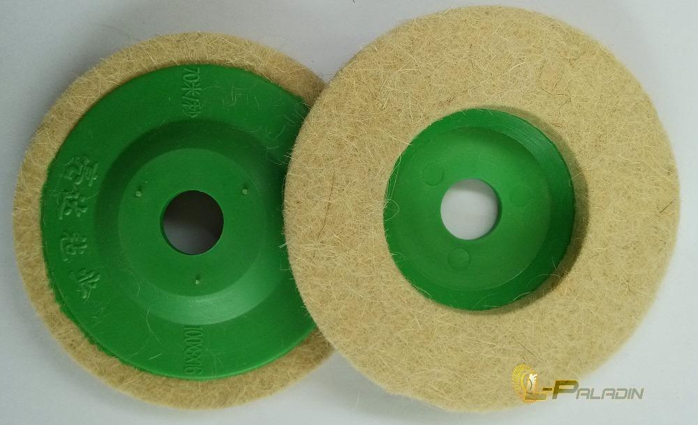 "4"" Diameter Wool felt polishing wheel wool grinding disc green cover 10 pcs per shrinkage(China (Mainland))"