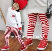 RK0028  Retail hot selling spring autumn children stripes Leggings girl child trousers baby full length pants free shipping