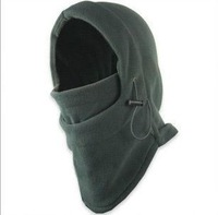 Double layer cs cap outdoor windproof face mask fleece hat double layer thickening winter ride wigs muffler scarf