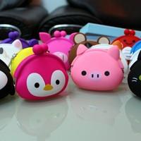 Silica gel coin purse cartoon animal storage bag girl bag gift  free shipping