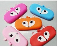 Cartoon animal silica gel coin purse jelly colored glasses bag general long design small wallet  free shipping