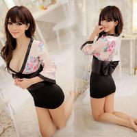 Sexy kimono set women's sexy underwear game uniforms temptation