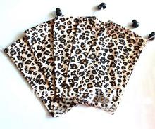 WHOLESALE 17*9cm leopard print Microfiber Bag optical frames sunglasses readers specs Leopard soft pouches Cloth covers pack(China (Mainland))