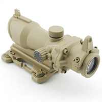 JJ Airsoft ACOG Style 4x32 Scope Red/Green Reticle w QD Mount (Tan) Full Illumination FREE SHIPPING