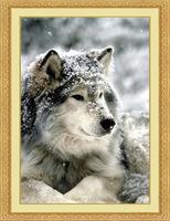 Free shipping  DIY  diamond painting  Retail 63*95 CM 3D square resin full diamond cross stitch   animal embroidery  wolf