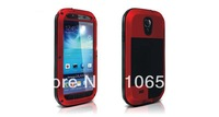 DHL Free Shipping(20PCS) Love Mei Shockproof Dirt Weatherproof Rugged Protection Gorilla Glass Case For Samsung Galaxy S4 i9500